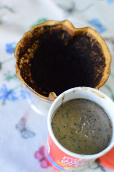 コーヒーかすの再利用石鹸