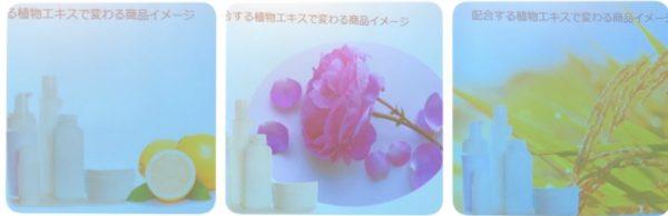 配合する植物エキスで変わる商品イメージ