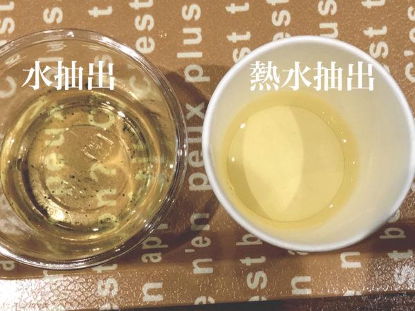 緑茶の抽出