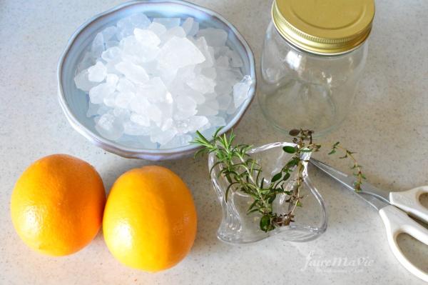 レモンシロップ材料
